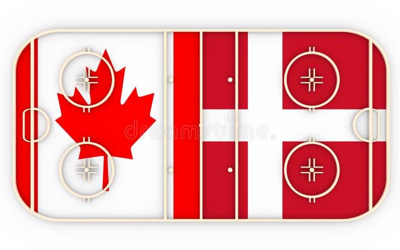 Kanada vs Dani ilustracja wektor
