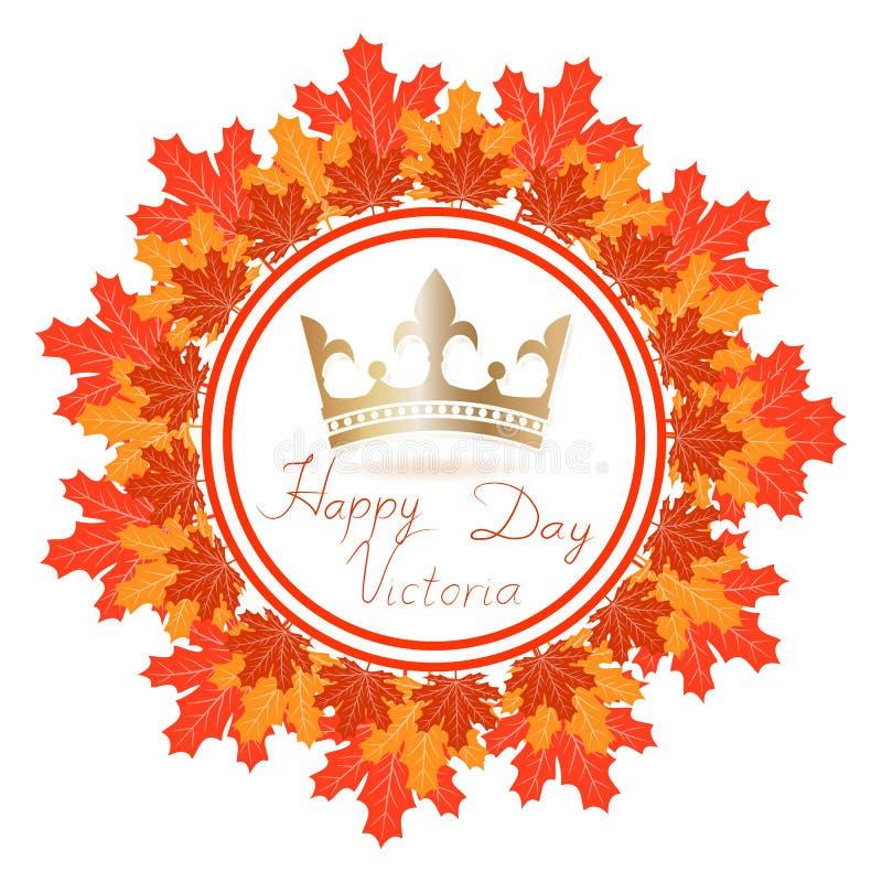 Kanada Wektorowa ilustracja Szczęśliwy świętuje Wiktoria dzień ilustracja wektor