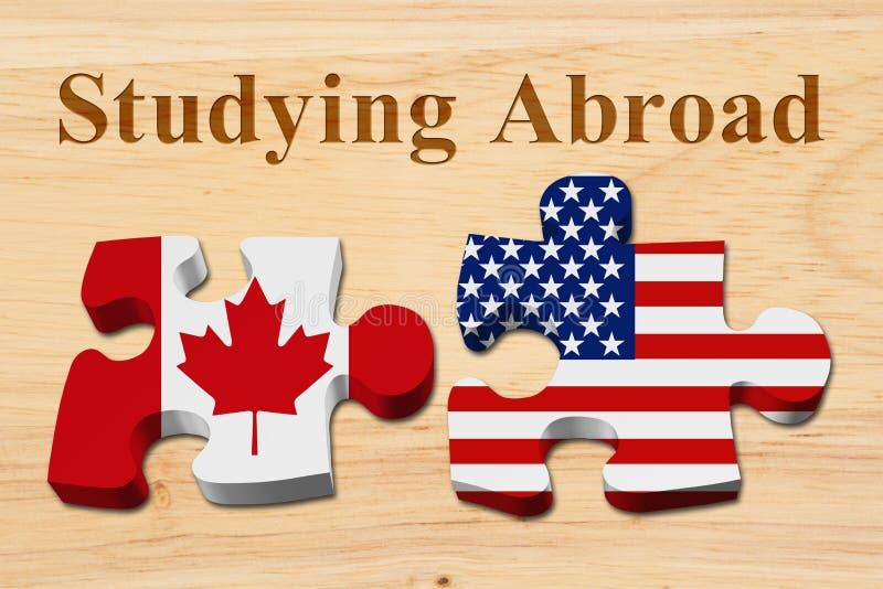 Kanadensare som deltar i högskolan i USA royaltyfria foton