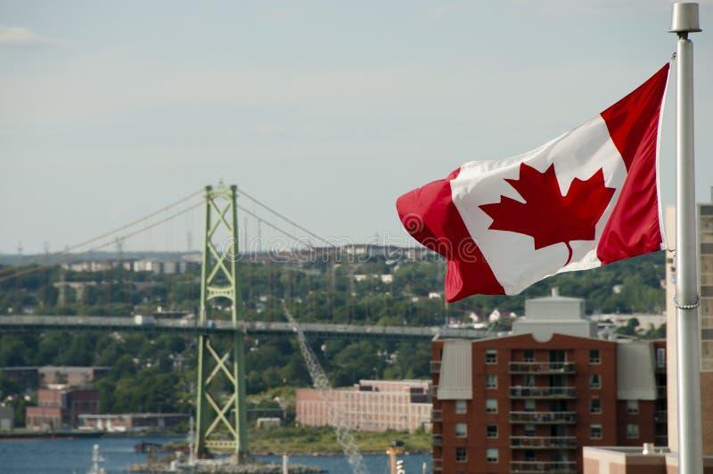 Kanadensisk flagga - Halifax - Nova Scotia royaltyfria bilder