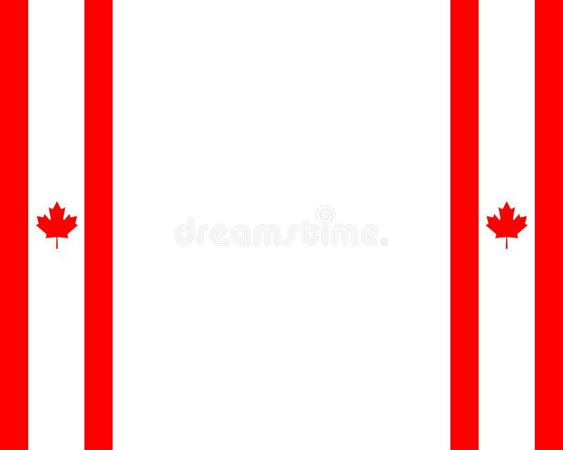 Kanadensisk flagga med kopieringsutrymme royaltyfri illustrationer