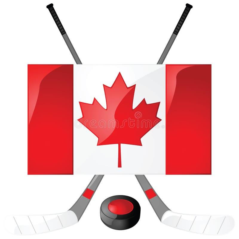 kanadensisk hockey royaltyfri illustrationer