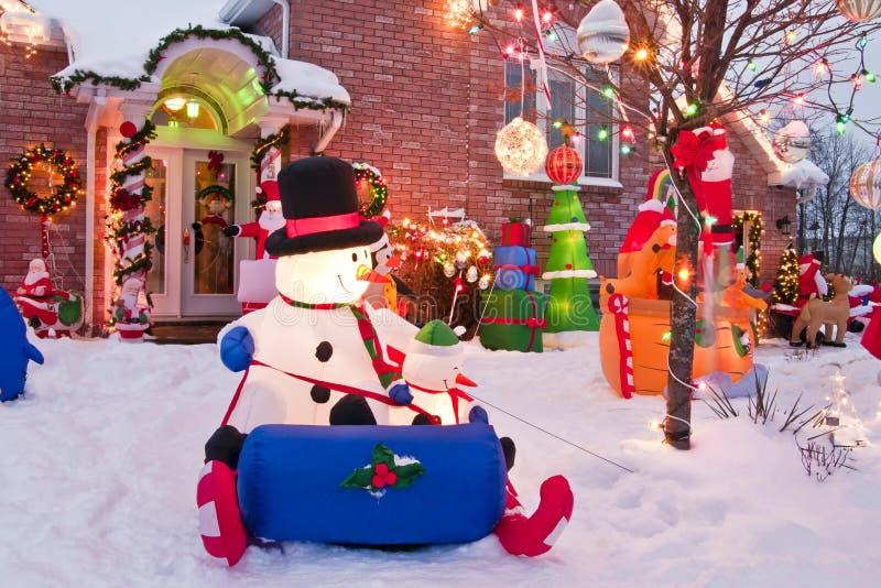 Kanadensisk jul royaltyfria bilder