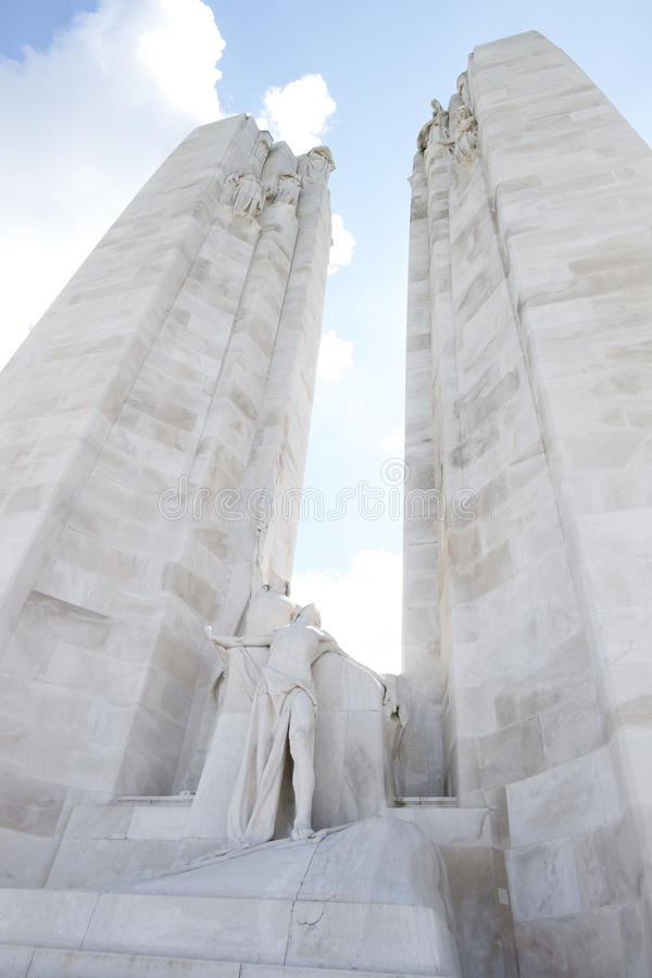 Kanadensisk nationell minnesmärke på Vimy Ridge arkivbilder
