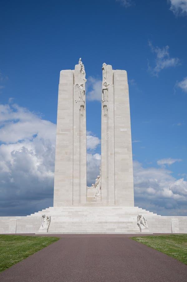 Kanadensisk nationell minnesmärke på Vimy Ridge royaltyfri fotografi