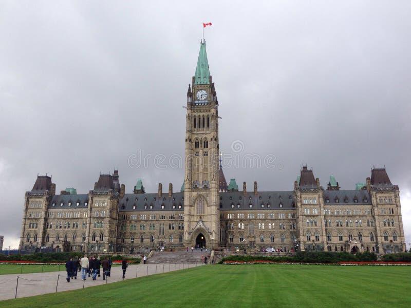 kanadensisk parlament royaltyfri fotografi