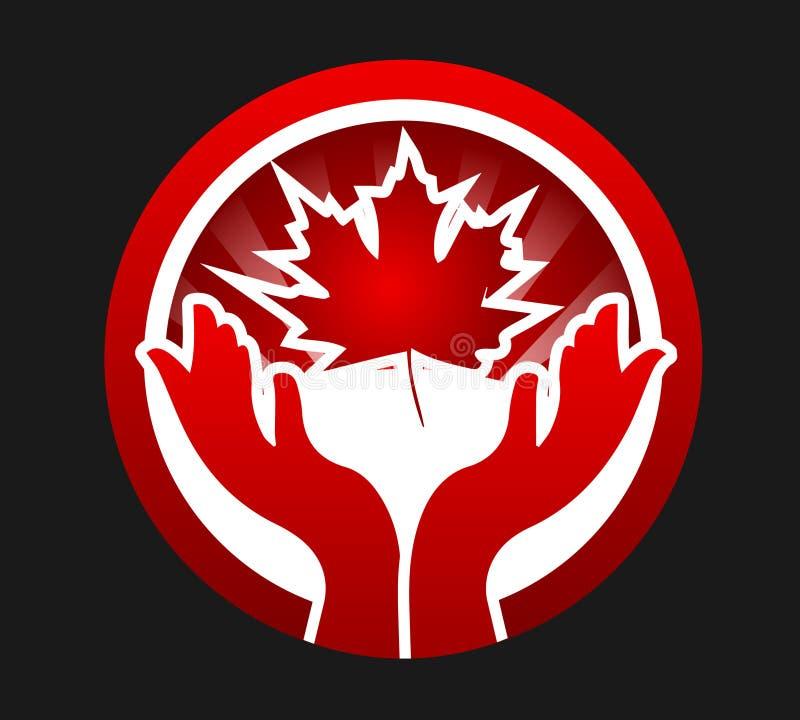 kanadensisk patriot royaltyfri illustrationer