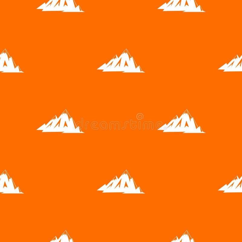 Kanadensisk sömlös bergmodell vektor illustrationer