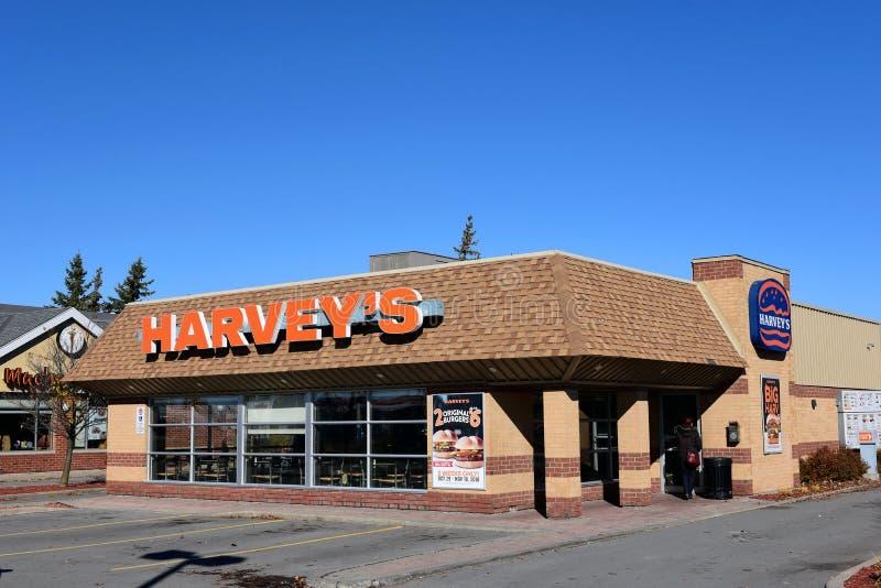 Kanadensisk snabbmatrestaurang i Kanata, Ontario royaltyfria bilder