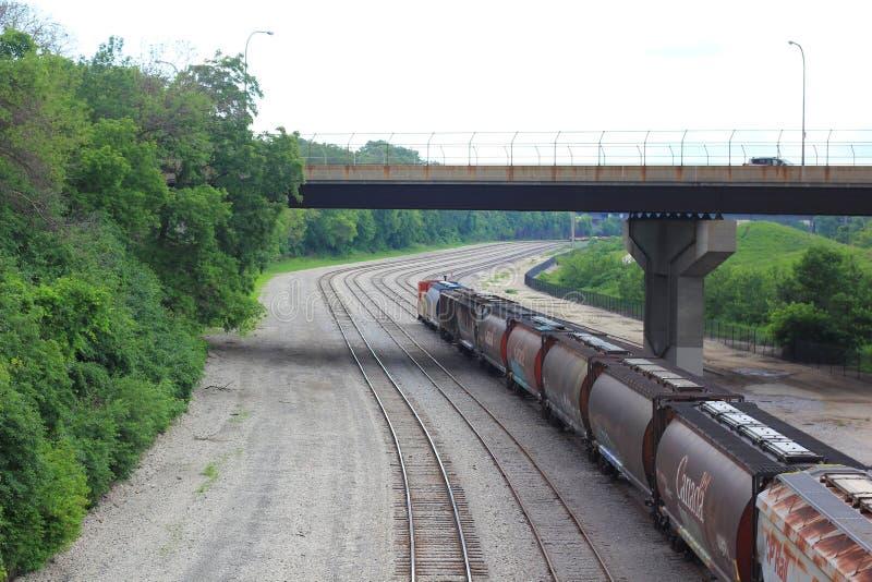 Kanadensisk Stillahavs- järnväg i Milwaukee royaltyfria bilder