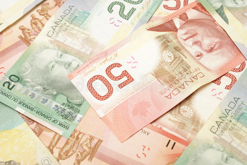 Kanadensisk valuta royaltyfri bild