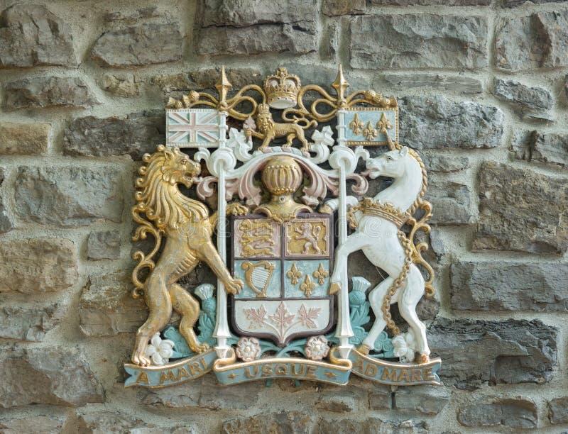 Kanadensisk vapensköld royaltyfria foton