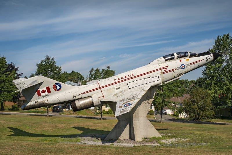 Kanadensisk voodoo för flygvapenflygplan CF-101 royaltyfria foton