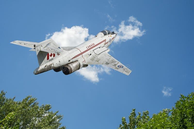 Kanadensisk voodoo för flygvapenflygplan CF-101 arkivfoto