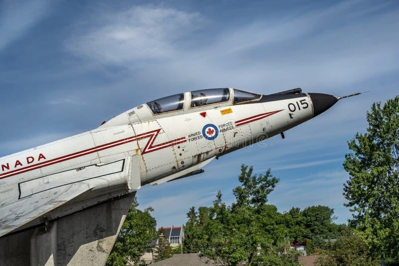 Kanadensisk voodoo för flygvapennivådetaljer CF-101 royaltyfria foton
