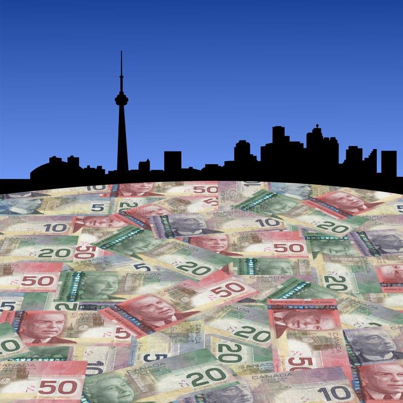 kanadensiska dollar toronto royaltyfri illustrationer