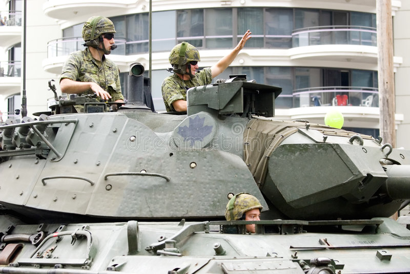 kanadensiska krafter royaltyfri foto
