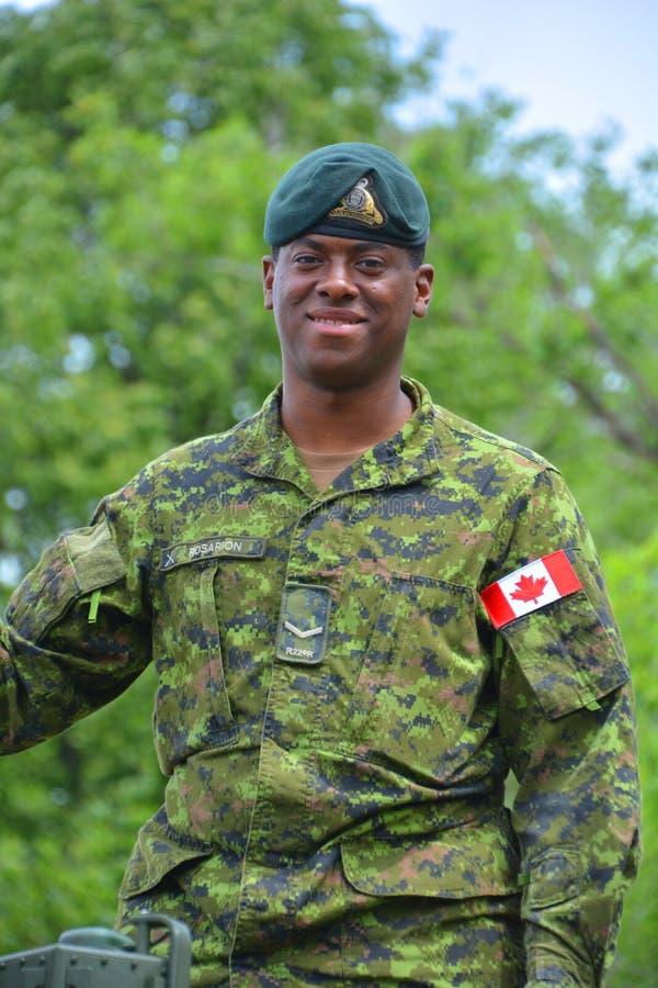 Kanadensiska soldater royaltyfria foton