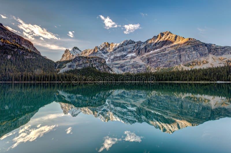 Kanadensiska steniga berg Autumn Reflection royaltyfri fotografi