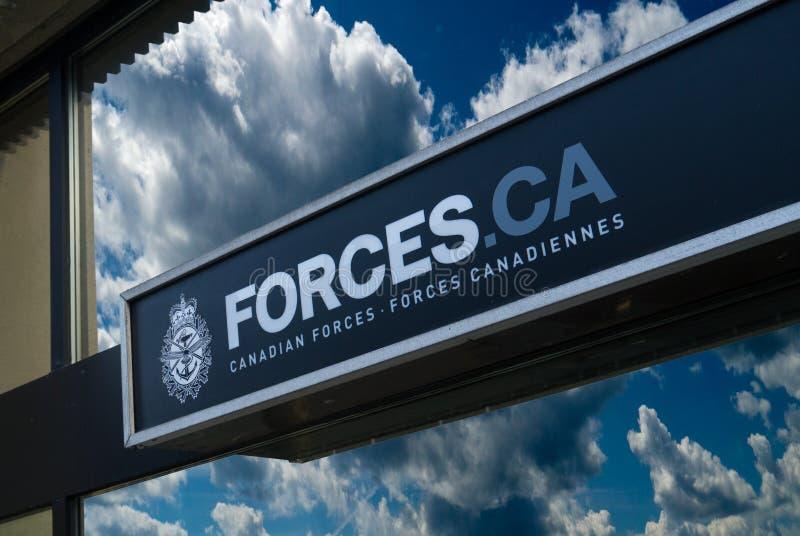 Kanadensiska styrkor undertecknar arkivfoton