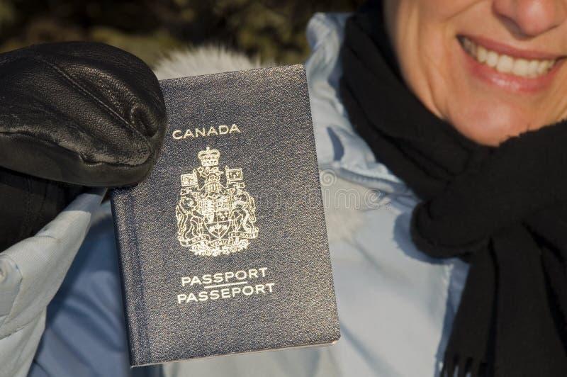 kanadensiskt pass royaltyfria bilder