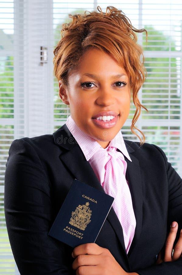 kanadensiskt pass royaltyfria foton