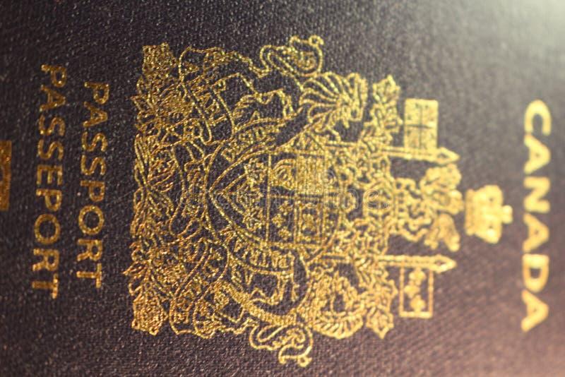 Kanadensiskt passmaterielfotografi royaltyfria foton