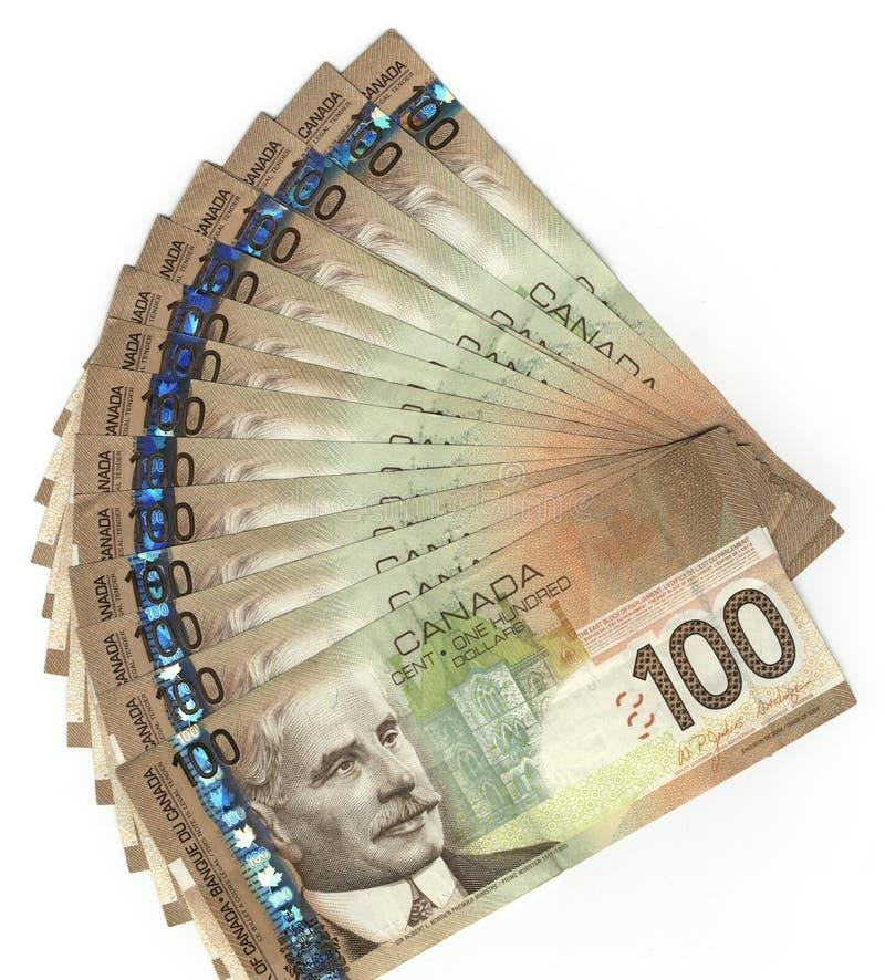 Kanadier hundert Dollarscheine lizenzfreies stockfoto