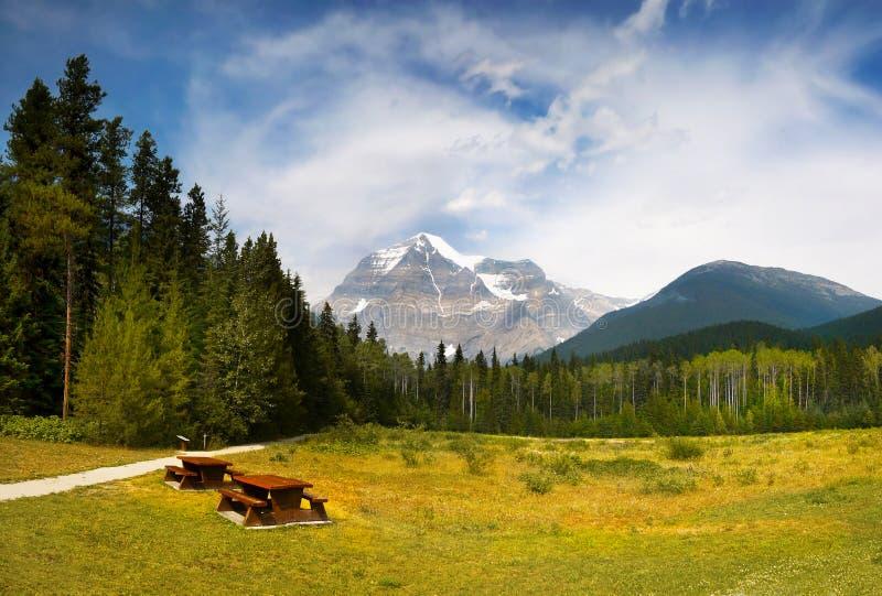 Kanadier Rocky Mountain Parks, Berg Robson stockbilder