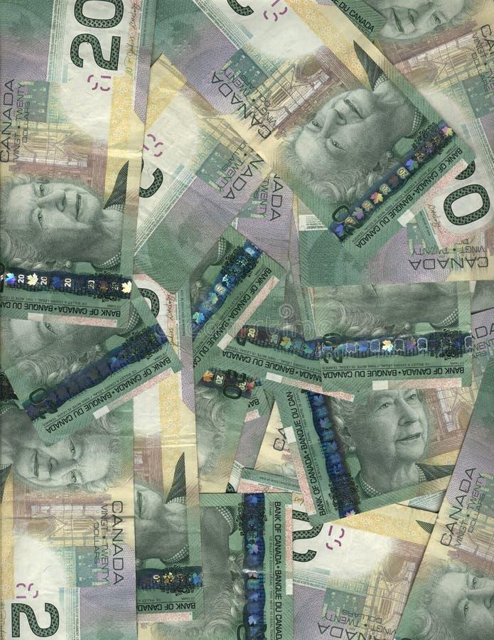 Kanadier Zwanzig Dollarscheine stockfoto