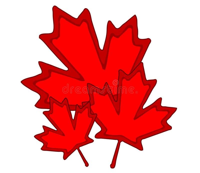 Kanadische Ahornblatt-Klipp-Kunst lizenzfreie abbildung