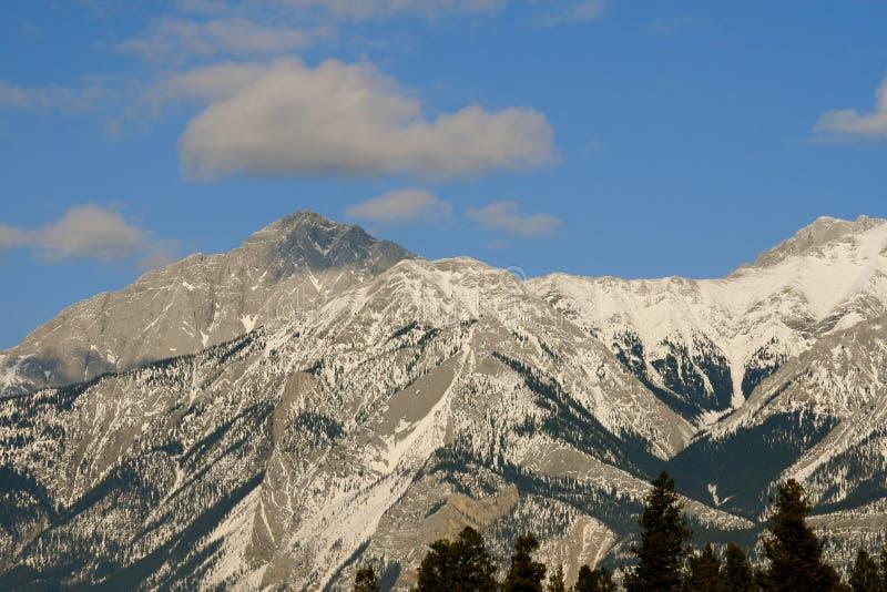 Kanadische felsige Berge stockfotografie