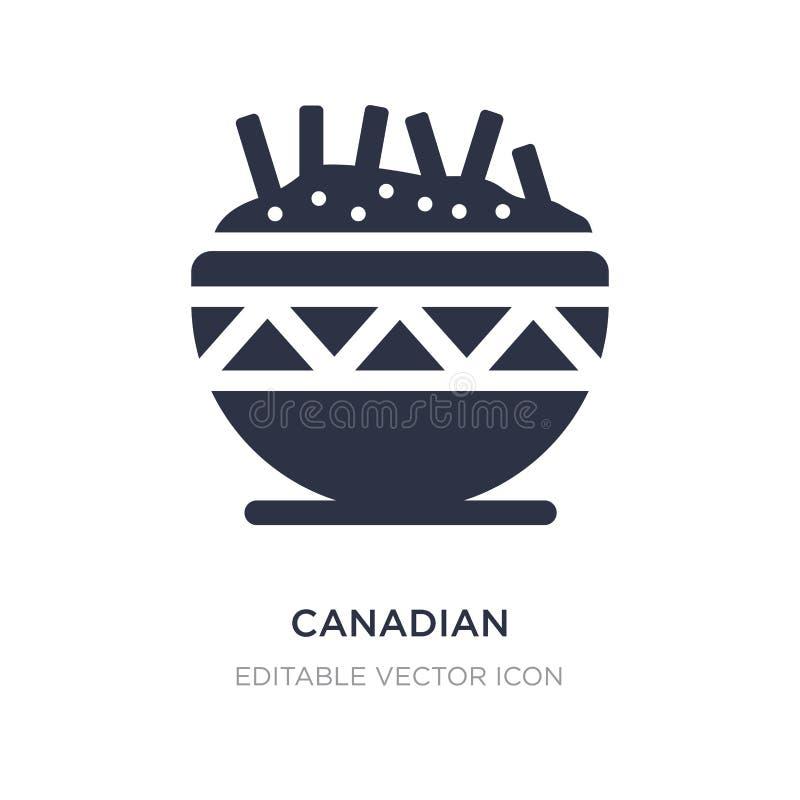 kanadische Ikone auf weißem Hintergrund Einfache Elementillustration vom Nahrungsmittelkonzept lizenzfreie abbildung
