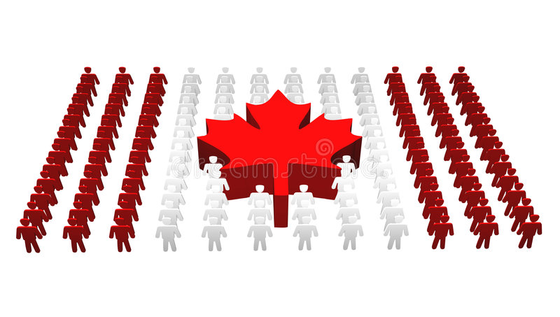 Kanadische Leute - Kanada-Markierungsfahne vektor abbildung