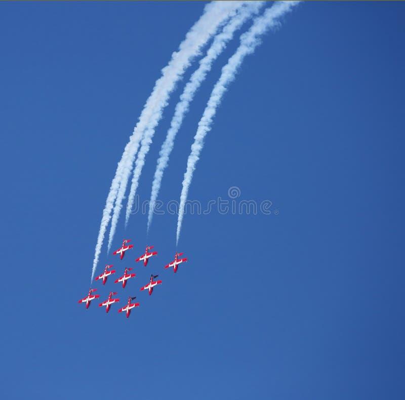 Kanadische Luftwaffe Snowbirds lizenzfreie stockfotos
