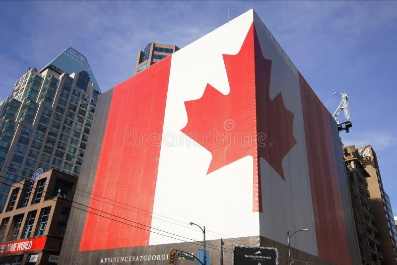 Kanadische Markierungsfahnen-Grafik Vancouver lizenzfreie stockbilder