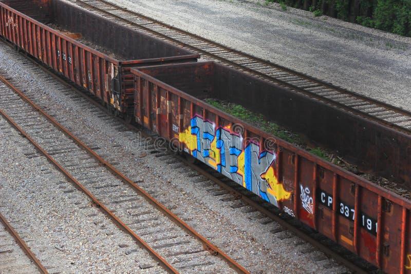 Kanadische pazifische Eisenbahn in Milwaukee stockfotos