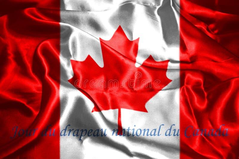 Kanadische Wiedergabe der Staatsflagge-3D lizenzfreie abbildung