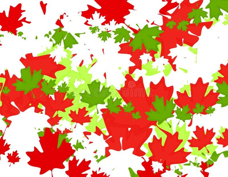 Kanadischer Ahornblatt-Weihnachtshintergrund lizenzfreie abbildung