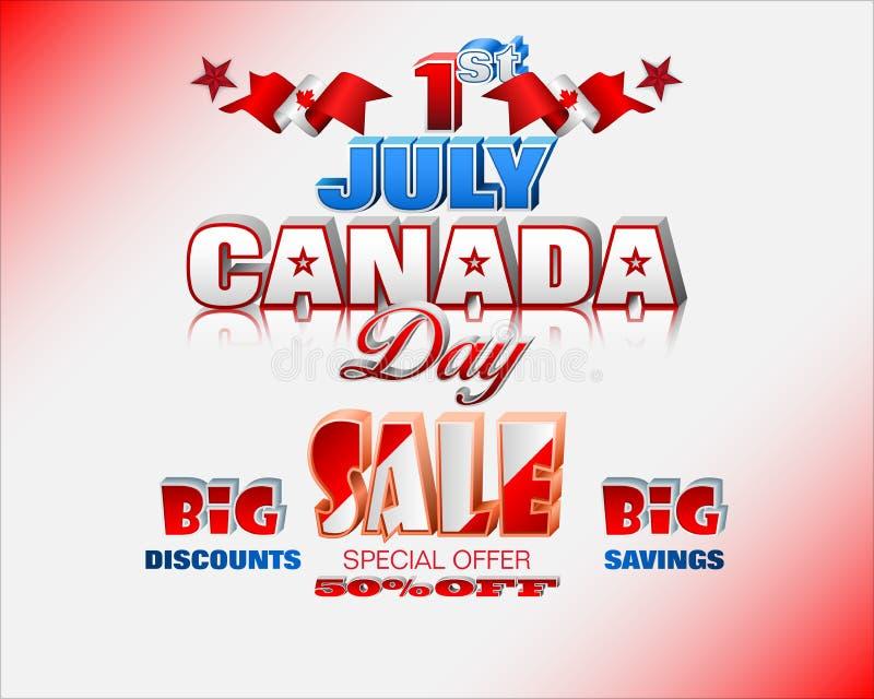 Kanadischer Nationalfeiertag, Verk?ufe und Handelsereignisse lizenzfreie abbildung