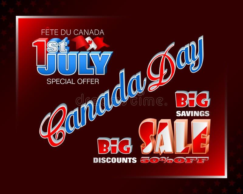 Kanadischer Nationalfeiertag, Verk?ufe und Handelsereignisse stock abbildung