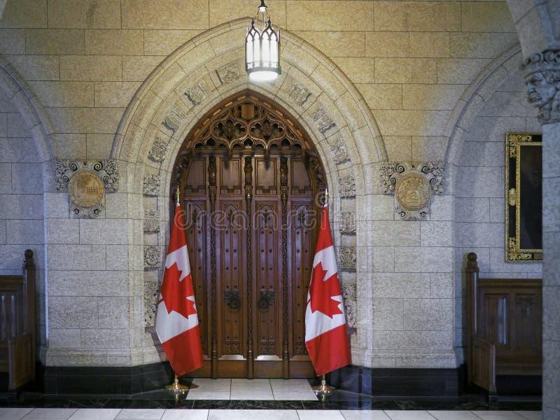 Kanadischer Parlaments-Gebäude-Innenraum lizenzfreie stockbilder