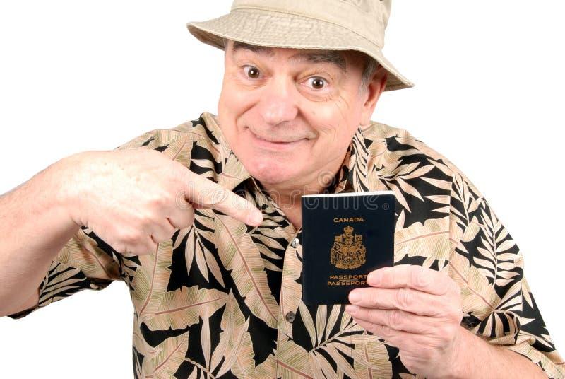 Kanadischer Tourist stockbilder