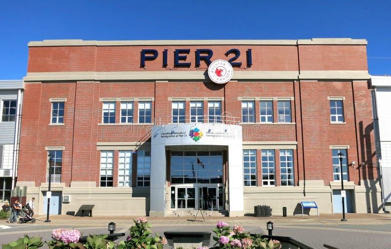 Kanadisches Museum der Immigration an Pier 21 stockbild