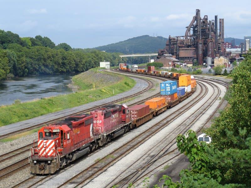 Kanadisches pazifisches Gleis stockfoto