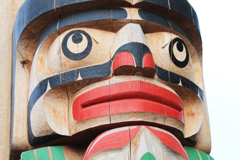 Kanadisches Totem Pole lizenzfreies stockbild