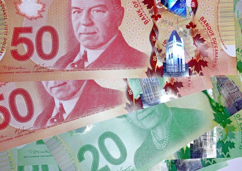 Kanadyjczyk 50 dolarowych rachunków zdjęcia royalty free