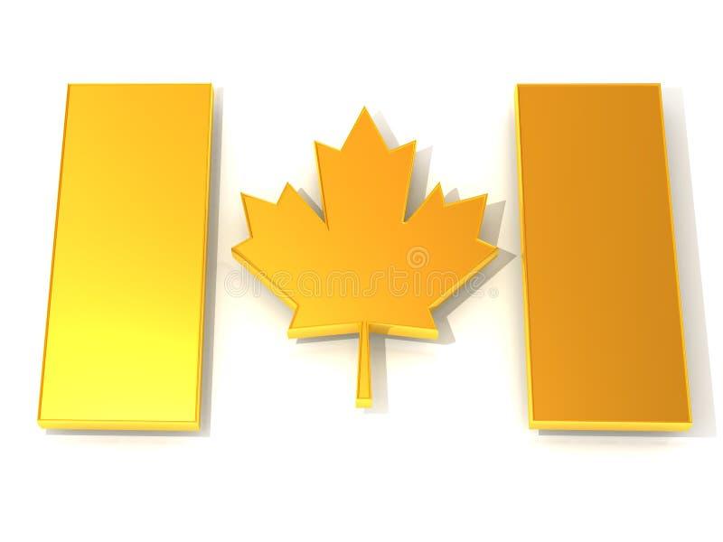 kanadyjczyk flaga ilustracja wektor