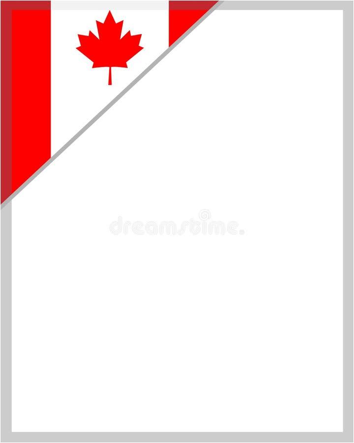 Kanadyjczyk flagi kąta liścia klonowego ramy projekta element ilustracja wektor