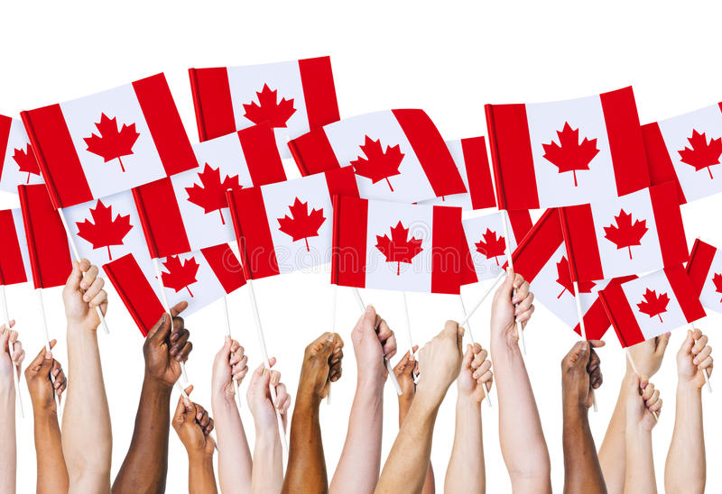 Kanadyjczyk kultury narodu Chorągwiany pojęcie obrazy royalty free